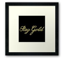 Stay Gold Framed Print
