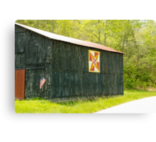 Kentucky Barn Quilt - July Summer Sky Canvas Print