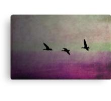 Goose Flight  - JUSTART ©  Canvas Print