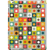 retro boxed dots iPad Case/Skin