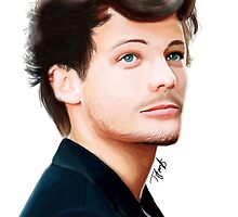 Louis Tomlinson Digital Painting by LittleTGee