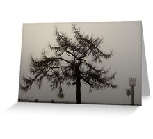 Foggy outlook Greeting Card