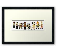 Firefly pixels Framed Print