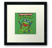 Teenage Muppet Ninja Kermit Framed Print