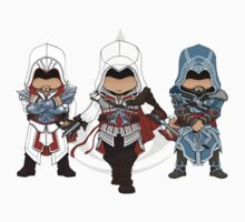 Ezio Auditore da Firenze Chibi Assassin Trio Kids Clothes
