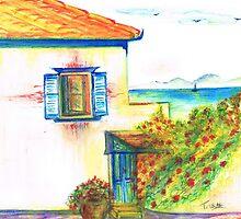 Hydra House Greek Island by Teresa White