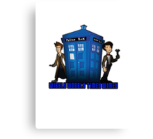 "Doctor Who ""Wibbly Wobbly Timey Wimey"" Tee Canvas Print"