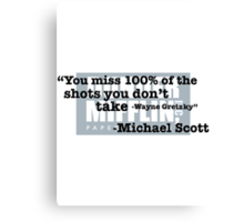 """Wayne Gretzky"""" -Michael Scott Canvas Print"""