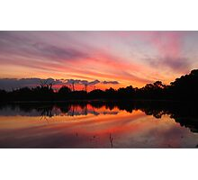 Lagoon Sunset Photographic Print