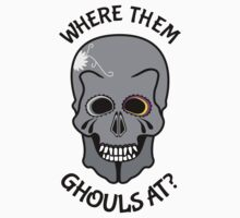 Skull | Where them ghouls at? Kids Clothes