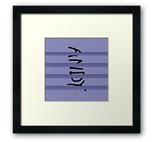 Andy Buzz Framed Print