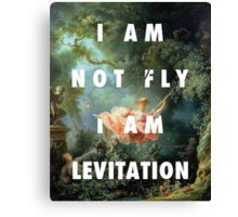 I AM NOT FLY, I AM LEVITATION Canvas Print