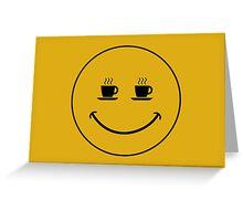 Smiley Coffee Greeting Card