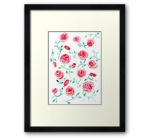 Watercolor provance roses Framed Print