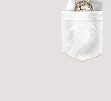 CAT SLEEP-POCKET (choose light grey or white for shirts) by MEDIACORPSE