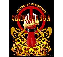 Deadpool and Chimichanga Photographic Print