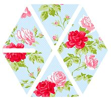 Floral EXO Logo - Blue by agShop