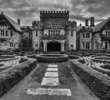 Hatley Castle Black And White Vintage Photo by Eti Reid