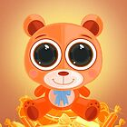Teddy Bear - Candy Orange by Adamzworld