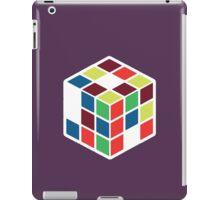 Rubik's Cube - Neon Body White Large iPad Case/Skin