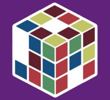 Rubik's Cube - Neon Body White Large by jitterink