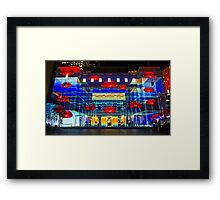Hot Lips - Customs House - Sydney Vivid Festival - Australia Framed Print