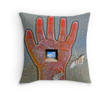 Falling shoes Throw Pillow