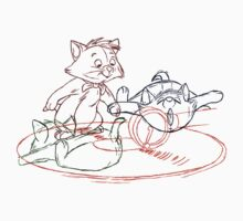 Hand drawn animation Key frames - Aristocats by MinetteMona