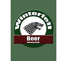 Winterfell Beer T-shirt : Game of Thrones Bier Clothing Photographic Print