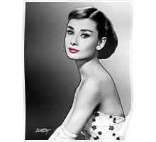 Audrey Hepburn - Black, White & Red Poster