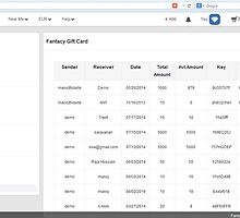 Gift card key and status in Fantacy http://www.fancyclone.net  by hitasoft