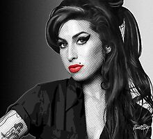 Amy Winehouse - Portrait in Black & White by Everett Day