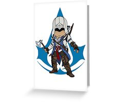 Connor Kenway Chibi: Assassin's Creed 3 Greeting Card