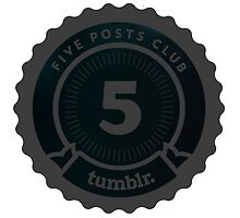 5 Posts Club Tumblr by JoAnnFineArt