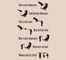God Creates Dinosaurs (Jurassic Park quote) by jezkemp