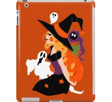 Witch Holding a Pumpkin iPad Case/Skin