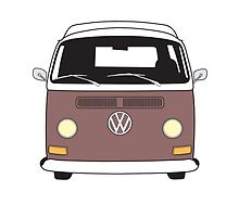 Early Bay VW Camper Front Brown by splashgti