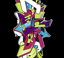 Wildstyle Graffiti Digital Sketch by Maestro Hazer