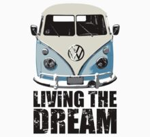 VW Camper Living The Dream Pale Blue Kids Clothes