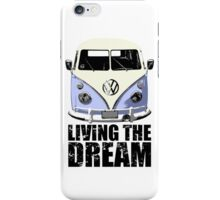 VW Camper Living The Dream Blue iPhone Case/Skin