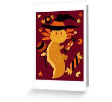 Halloween Candy Axolotl Greeting Card