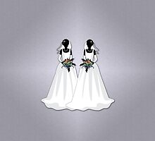 Mrs & Mrs Rainbow Brides by LiveLoudGraphic