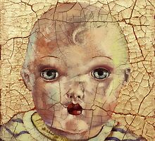 """""""Nothing to Fix"""" (antique boy doll) by Blue Reid"""
