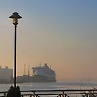 THE QUEEN MARY 2 IN SOUTHAMPTON DOCKS. by ronsaunders47