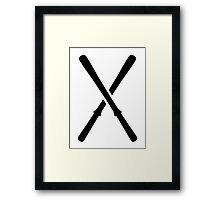Crossed ski Framed Print