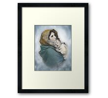 The Madonna, Nativity mother and child. Framed Print