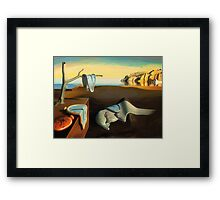 Persistence of Memory Framed Print