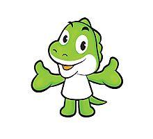 Baby Green Dinosaur Photographic Print