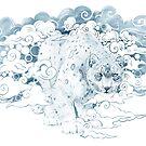 clouded snow leopard illustration by SFDesignstudio