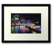 Kurilpa Bridge at Night Framed Print